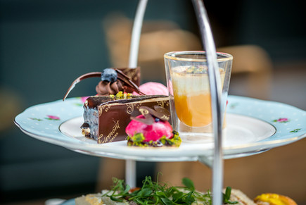 afternoon tea service at the Fairmont Hotel in St Andews, lifestyle photography