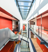 interior architectural photography of Carnegie Library and Galleries central lightwell