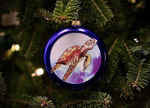 Sea Turtle Disc Ornament