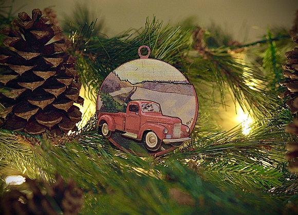 WS 3D Route 66 Wooden Ornament
