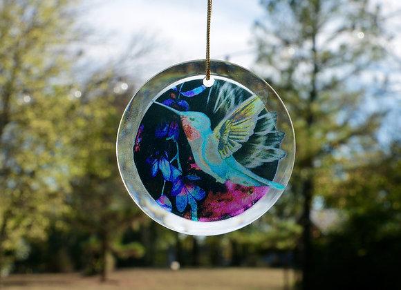 Hummingbird Glass Sun-catcher