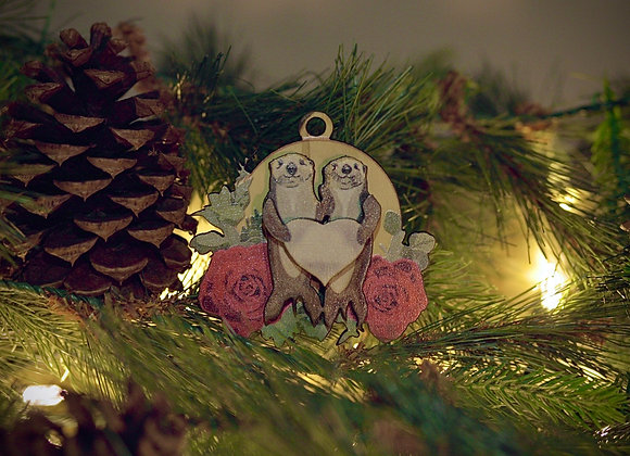 3D My Otter Half Wooden Ornament