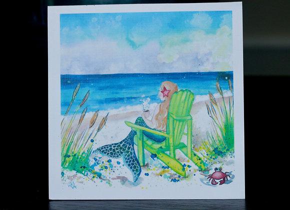 Beach Mermaid Greeting Card