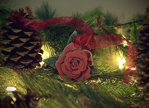 WS 3D Rose Wooden Ornament