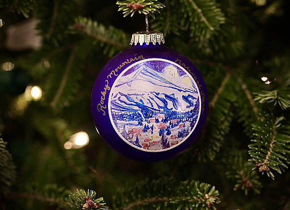 Goodnight Mountains Ornament WS
