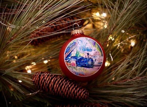 Mountain Train Ornament