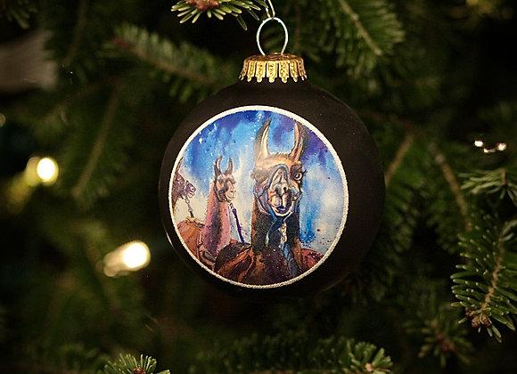 Llama Train Christmas Tree Ornament