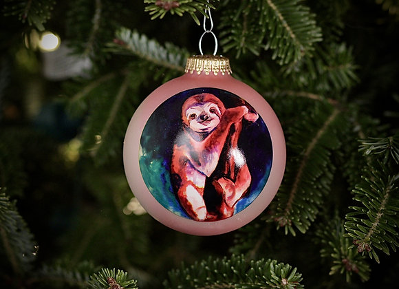 Sloth Glass Ornament