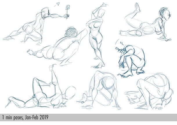 1 min poses, 2019.