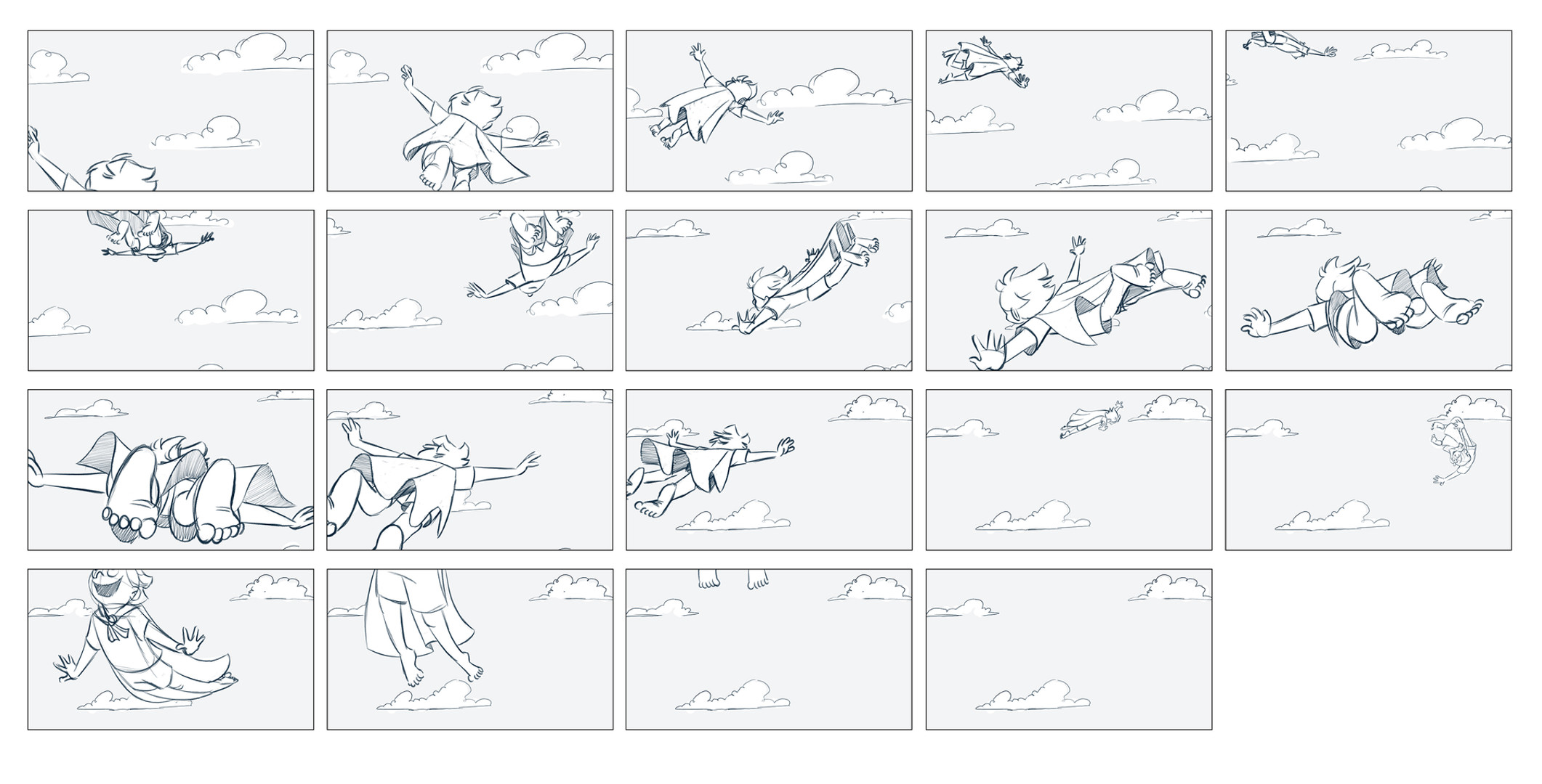 Storyboard for my upcoming short film, Nora (2019).