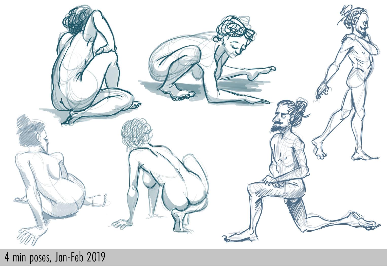 4 min poses, 2019.