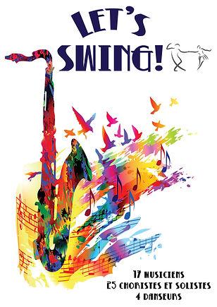 spectacle let's swing avec les 25 choristes de La Note Bleur dirigé par Valérie Micheli, le big band d Fabrice Bon et le Garric Danse Club