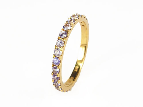 Tanzanite Classic Eternity Ring 2mm