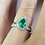 Thumbnail: Pear Cut Emerald Diamond Halo Ring