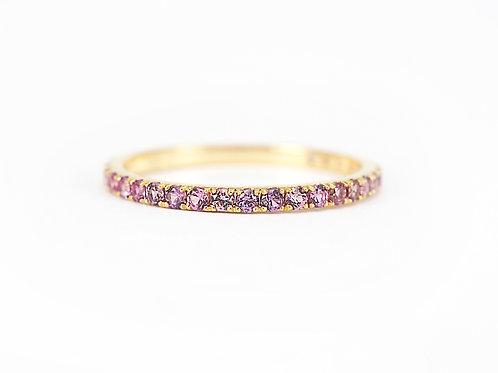 Mauve Sapphire Eternity Ring 1.6mm