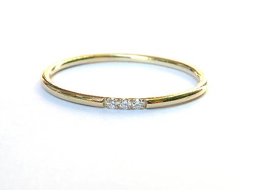 N - Skinny Diamond Wedding Ring