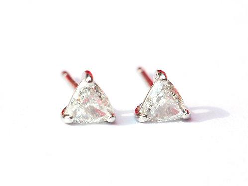 Trillion Cut Diamond Stud Earrings