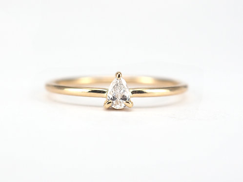 Baby Pear Cut Diamond Solitaire 0.10ctw