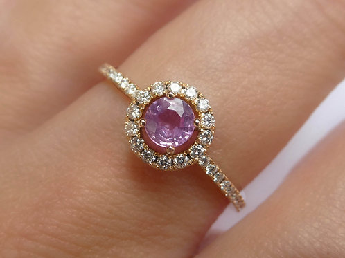 Pink Sapphire Engagement Ring Diamond
