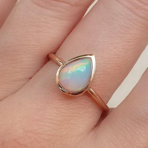 Opal Pear Ring