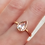 Thumbnail: Morganite Pear Ring 1.7ctw