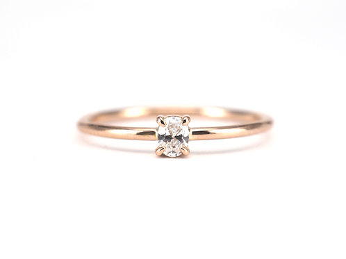 Baby Oval Cut Diamond Solitaire 0.10ctw