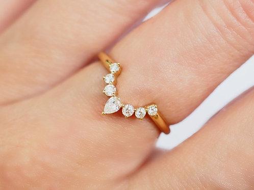 Diamond Nesting Ring. Larger Diamond Size.
