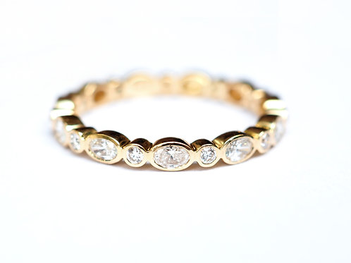 Oval and Round Diamond Eternity Ring 3mm