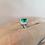 Thumbnail: Pear Cut Emerald Diamond Halo Ring
