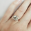 Thumbnail: Light Mint Green Sapphire with Diamond Halo Engagement Ring