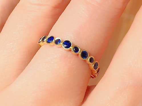 Bubble Blue Sapphire Eternity Ring