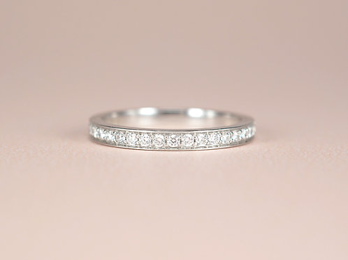 Pave Set Diamond Eternity Ring 2mm