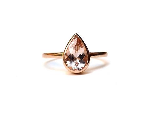 Morganite Pear Ring 1.7ctw