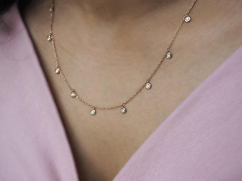 9 Diamond Raindrop Necklace