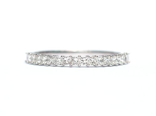 Prong Set Princess Cut Diamond Eternity Ring 2mm