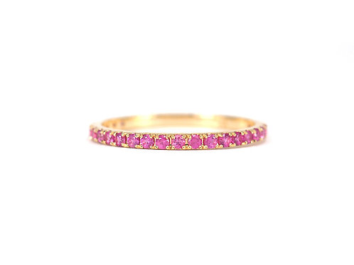 Thai Pink Ruby Eternity Ring 1.6mm