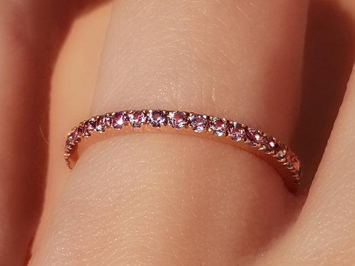 Lavender Sapphire Eternity Ring 1.6mm