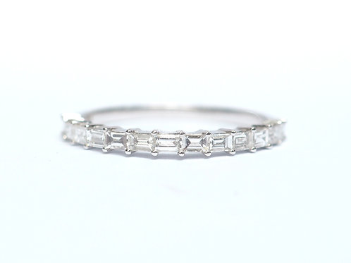 Prong Set Baguette Cut Diamond Eternity Ring 2mm