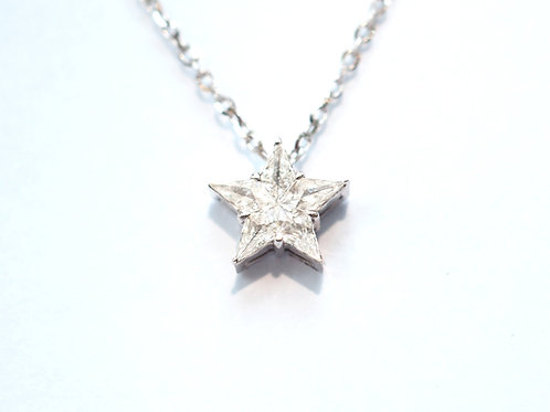 Diamond Star Illusion Pendant Necklace