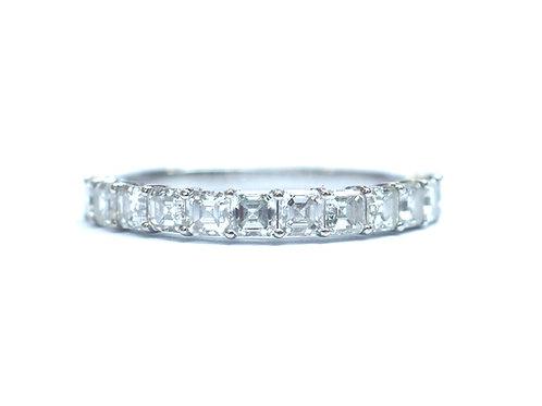 Prong Set Asscher Cut Diamond Eternity Ring 2.8mm