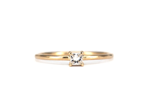 Baby Princess Cut Diamond Solitaire 0.10ctw