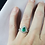 Thumbnail: Pear Cut Emerald Engagement Ring Set with Diamond Halo