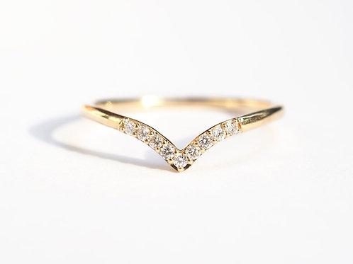 V Shape Chevron Diamond Nesting Ring