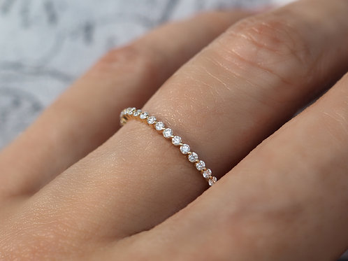 Floating Diamond Eternity Ring 1.3mm