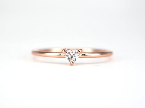 Baby Heart Cut Diamond Solitaire 0.10ctw