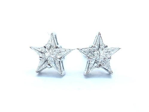 Diamond Star Illusion Diamond Stud Earrings