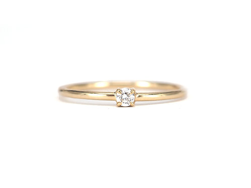 Round Brilliant Dainty Diamond Ring