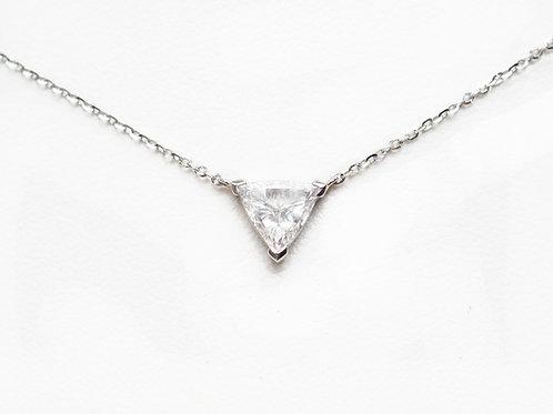 Trillion Cut Diamond Solitaire Necklace