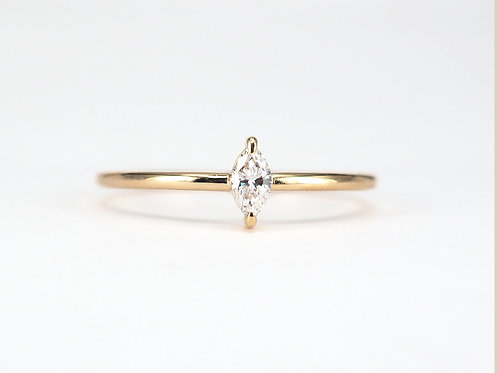 Baby Marquise Cut Diamond Solitaire 0.10ctw