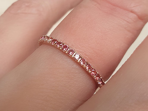 Blush Pink Sapphire Eternity Ring 1.6mm